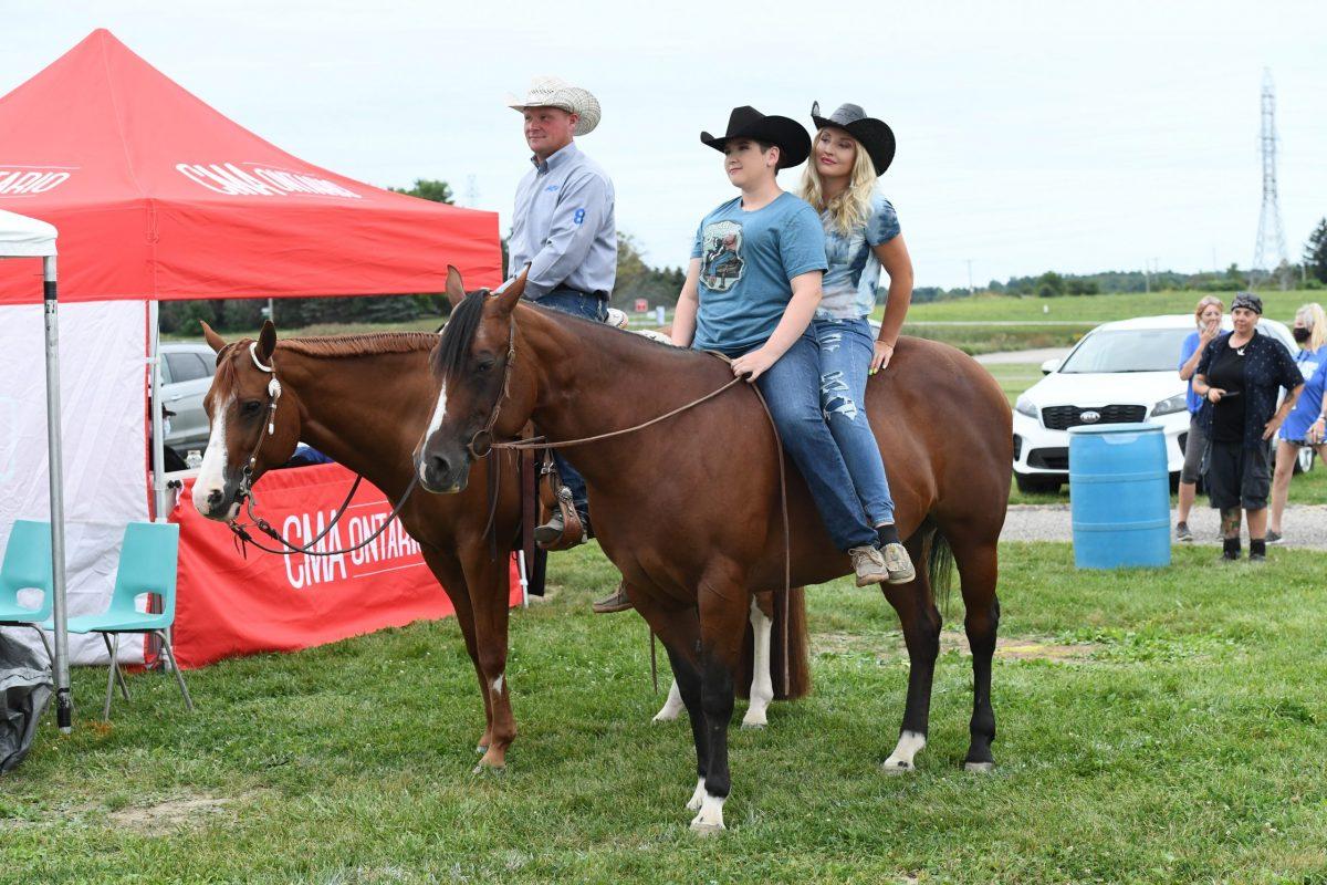 Riders from Ontario Quarter Horse Association